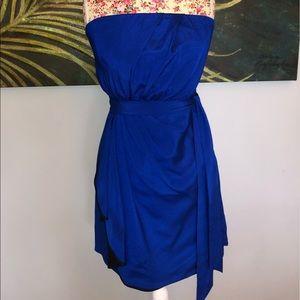 Express royal blue cocktail dress